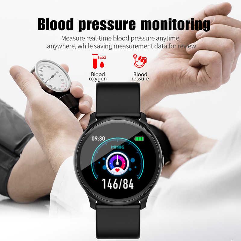 2019 חדש חכם שעון IP68 עמיד למים גשש כושר קצב לב צג מוסיקה שליטה גברים נשים smartwatch עבור אנדרואיד IOS + תיבה