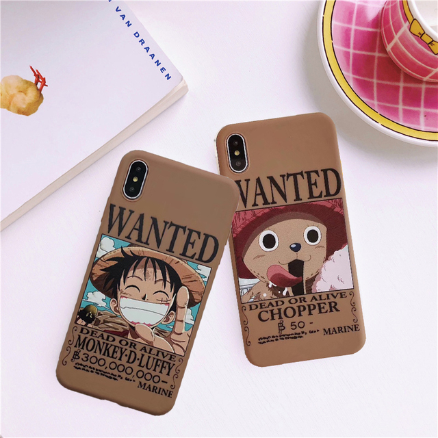 LUFFY WANTED ONE PIECE IPHONE CASE