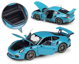 Image 3 - مقياس ويلي 1:24 محاكي سيارة بورش 911 GT3 RS نموذج سيارة رياضية سبيكة معدنية لعبة سباق السيارات لعبة للأطفال هدية