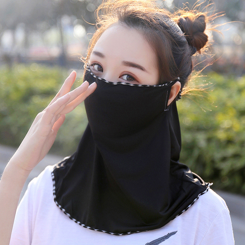 Women Summer UV Protection Ice Silk Neck Mask Face Cover For Sun Protection Breathable Cycling Mask Sunshade Face Cover Shawl