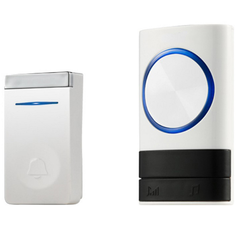 AMS-Eu Plug Self Generation Wireless Doorbell Home Smart Electronic Remote Control Long Distance No Battery Cordless Doorbell