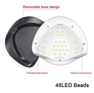Image 5 - Marka yeni 180W UV lamba tırnak kurutucu Pro LED hibrid lambası hızlı kür jel oje Dryer45 LED manikür lambası tırnak sanat araçları
