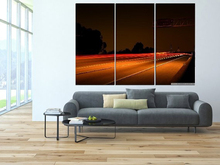 Modern Colorful Photo Picture Road Cruising Room Decor 3 Pcs Cities Canvas Art Painting Living Bedroom