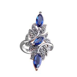 Image 1 - Classic Fashion Wedding Ring Exquisite Blue Zircon Female Ring 2020 Fashion New Wedding Jewelry New Year Gift