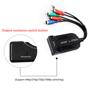 Image 5 - HDMI to SCALER YPbPr Converter HDMI to 5RCA RGB YPbPr With Component Video Cable Support 1920 x 1080P HDMI to Component YPbPr