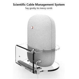 Image 4 - For Google Nest Audio Wall Mount Holder Acrylic Stand Bracket Space Saving Desktop Holder For Google Nest Audio Smart Speaker