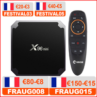 Spedisci dalla francia X96 mini 10 pz/lotto X96mini 2GB 16GB Android TV BOX 7.1 Set top box 1GB 8GB TVbox Amlogic S905W Quad Core