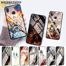 WEBBEDEPP Eren Yeager Shingeki Glass Case for Huawei P10 lite P20 Pro P30 P Smart honor 7A 8X 9 10 Y6 Mate 20