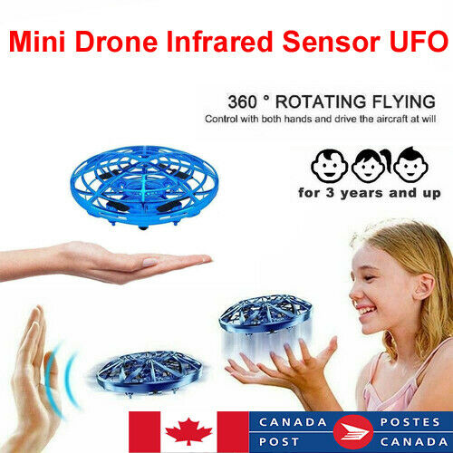 Mini Drone Quad Induction Levitation UFO LED Light USB Charging Kids Birthday Gift Toys For Boys Girls Adult