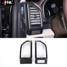 Jho Abs Carbon Graan Dashboard Side Vent Outlet Overlay Cover Trim Voor Ford F150 2015-2020 Raptor 2019 2018 gen2 Auto Accessoires