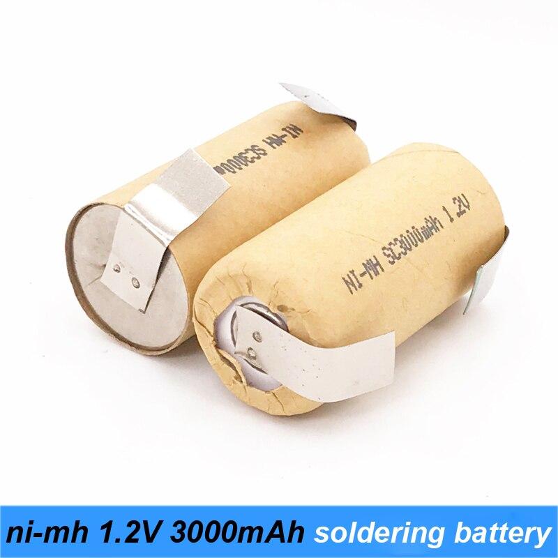1300mAh 10C corrente di scarica 1.2V Ni-MH batteria ricaricabile 4/5 SC per cacciavite batteria e aspirapolvere Robot A2 Turmera