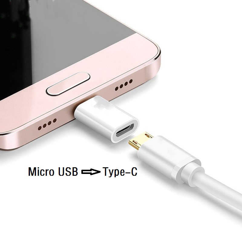 Micro USB หญิงประเภท C ชายอะแดปเตอร์สำหรับ Xiaomi Mi 8 Redmi หมายเหตุ 7 Huawei P20 Lite OnePlus 6 samsung S8 PLUS S9 หมายเหตุ 9 5PCS
