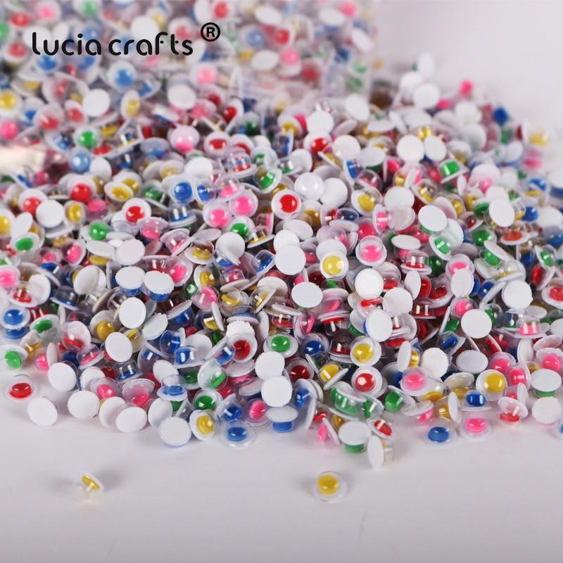 500pcs 5mm Random Mixed Googly Eyes Self-adhesive Wiggly Eyeballs DIY Craft Supplies Kid Scrapbooking Toys Arts Decor K0883(China)