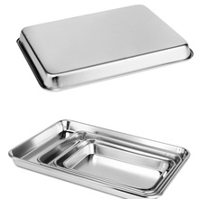 304 Stainless Steel Matte Medical Tray Dental Surgical Dish Lab Nail Tattoo Storage Tool Standard Size with Different Sizes tattoo kits stainless steel sterilization flat tray medical disinfection plate tray tattoo accessories