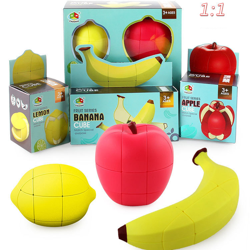 Magic Cube Fruit Model Banana Apple Lemon 2x2x3 Unequal Special Cute Shape Toys Rubik's Cube Education Toy Gift Collectible Toys