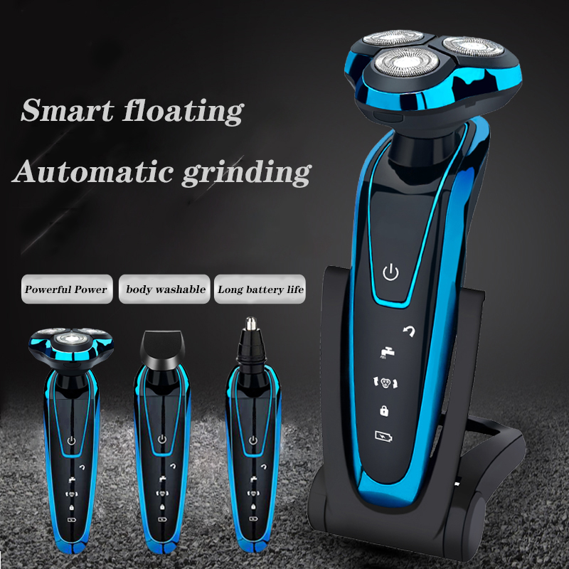Multifunction Men Beard Razor Hair Trimmer Rechargeable Shaving Machine Beard Trimmer Body Washable Electric Shaver