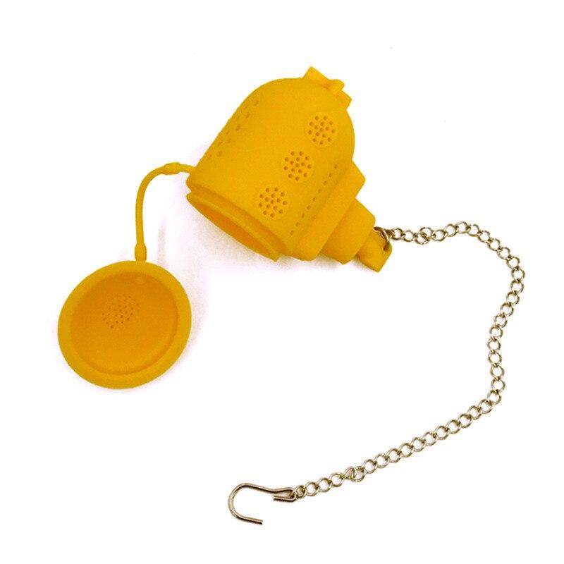 Creative Tea Filter Submarine Shape Strainer Interesting Life Partner Silicone Infuser Filter Tea Maker Tools