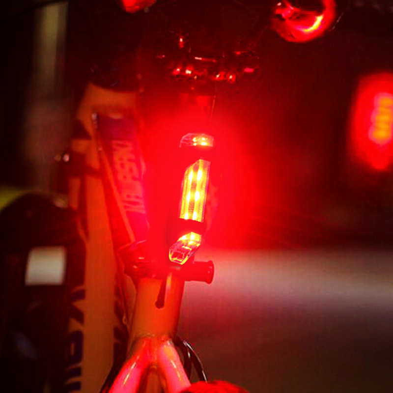 LOVELION - Bicycle Taillight Rechargeable Rear Light Bicycle Tail Waterproof LED USB Safety Warning Light For Cycling Bicycle