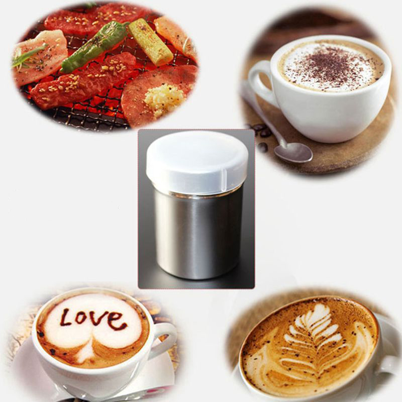 Stainless Steel Chocolate Shaker Cocoa Flour Icing Sugar Powder Coffee Sifter Lid Shaker Cooking Tools Coffee Accessories
