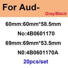 20 sztuk Car Styling piasty kołpaka koła centralnego 60mm 4B0601170 4B0601170A 69mm czarny/szary dla A1 A2 A3 A4 A5 A6 A7 A8 Q1 Q3 Q5