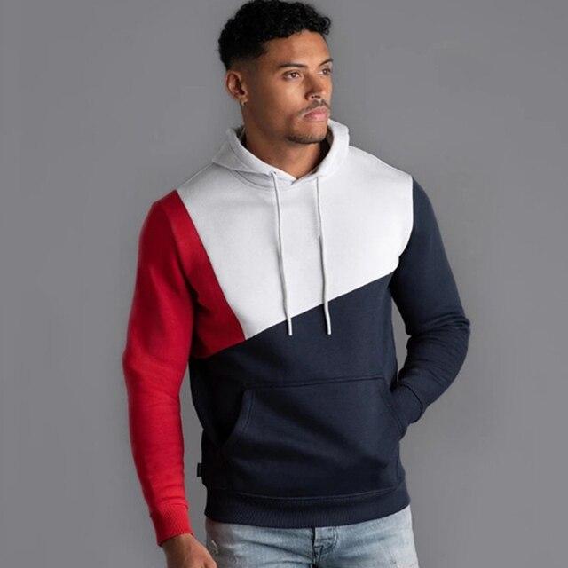 Толстовка мужская для фитнеса, Модный свитшот с капюшоном, брендовый пуловер для воркаута, уличная одежда, осень зима