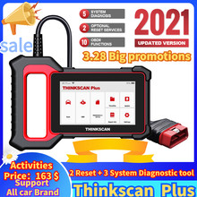THINKCAR Thinkscan Plus S4 Optional 2 Reset Car Diagnostic Tool ECM/TCM/ABS/SRS/BCM System obd2 Auto Scanner Diagnostic Tool