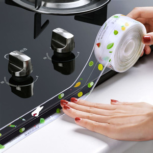 Kitchen Sink Waterproof Sticker Anti-mold Waterproof Tape Bathroom Countertop Toilet Gap Self-adhesive Seam Stickers