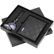 Новое Прибытие Карманные Часы Подарок Бумажник Набор Старинные Механические Кулон Брелок Часы Бизнес-Мужчины Муж Отец Рождественские Подарки
