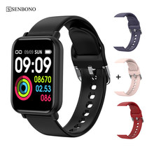 SENBONO Smart Watch IP68 Waterproof Heart Rate Monitor Multiple Sports Models Fitness Tracker for Men and Women Wristband PK B57(China)