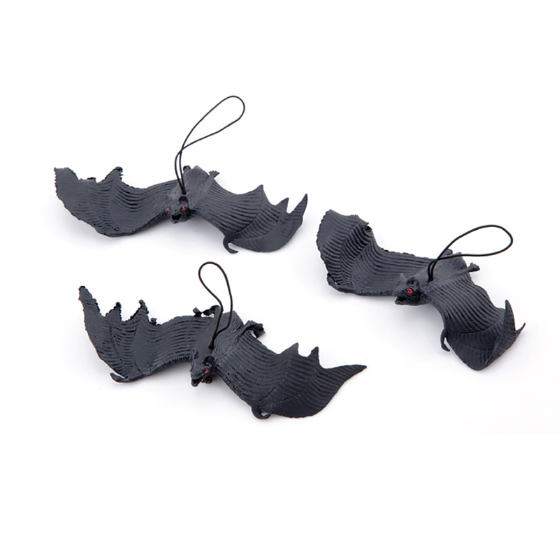 H3334518941bb4b8c856f44610e7a5ec7Q - Halloween Simulation Animals Bats Trick Toy Halloween Decoration Horror House Bat Hanging Props Home Wall Window Decor
