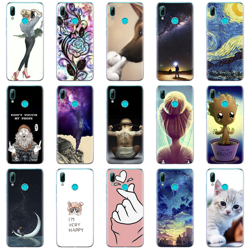 for Huawei Y7 2019 Case Huawei y7 pro 2019 SiliconTPU Cover Soft Phone Case on Y7 2019 Y 7 Y7Prime Y7 Prime 2019 global version