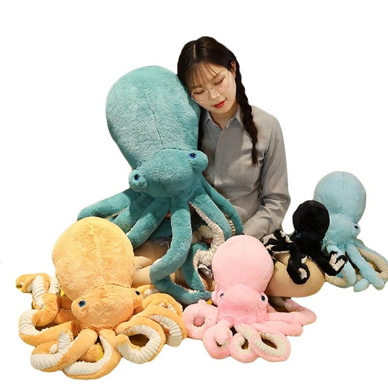 30cm-90cm Lifelike Plush Octopus Toy 90cm Big Size Octopus Pillow Stuffed Marine Life Soft Doll Kids Toys