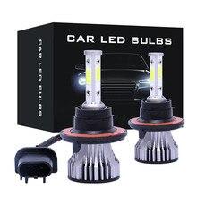 h4 car led headlight 72w 6500k 3 sides cob chips auto h11 h13 9005 9006 9007 h7 led kit headlamp fog light automobiles parts CARCTR Car Headlight H7 LED  Headlight H4  H11 H13 9005 9006 9007 26W 8000LM 6500K 12V 24V Auto Headlamp Fog Light Bulb