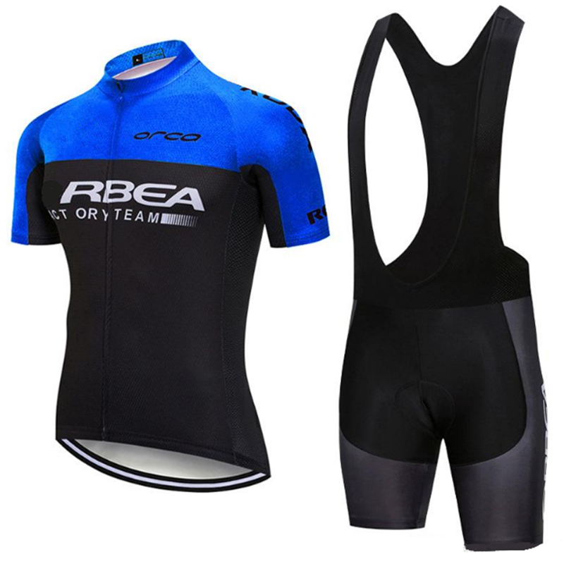 ORBEAING Cycling Kits Men 2020 Beginner Sweatshirt Ropa Ciclismo Jersey Short Sleeve Bike Riding Clothes Rode Bib Suits