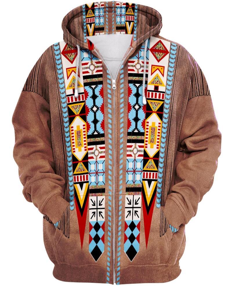 Tessffel Indian Native Culture Harajuku Casual Colorful Tracksuit New Fashion 3DPrint Unisex Hoodie/Hoodies/Zipper Men Women S-4