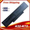 5200mah بطارية كمبيوتر محمول A32-K72 ل asus K72N K72S K73J K72D N71 N73 K73 X77 A72 X72 K72 A73 N71J X73 K72P N73F X73S X7CS K72K