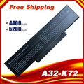 5200mah batterie d'ordinateur portable A32 K72 pour asus K72N K72S K73J K72D N71 N73 K73 X77 A72 X72 K72 A73 N71J X73 K72P N73F X73S X7CS K72K|battery a32-k72|laptop battery|laptop battery for asus -