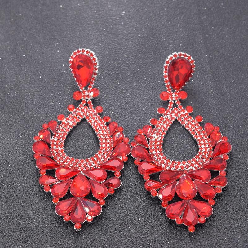 Red earrings for women bride (4)