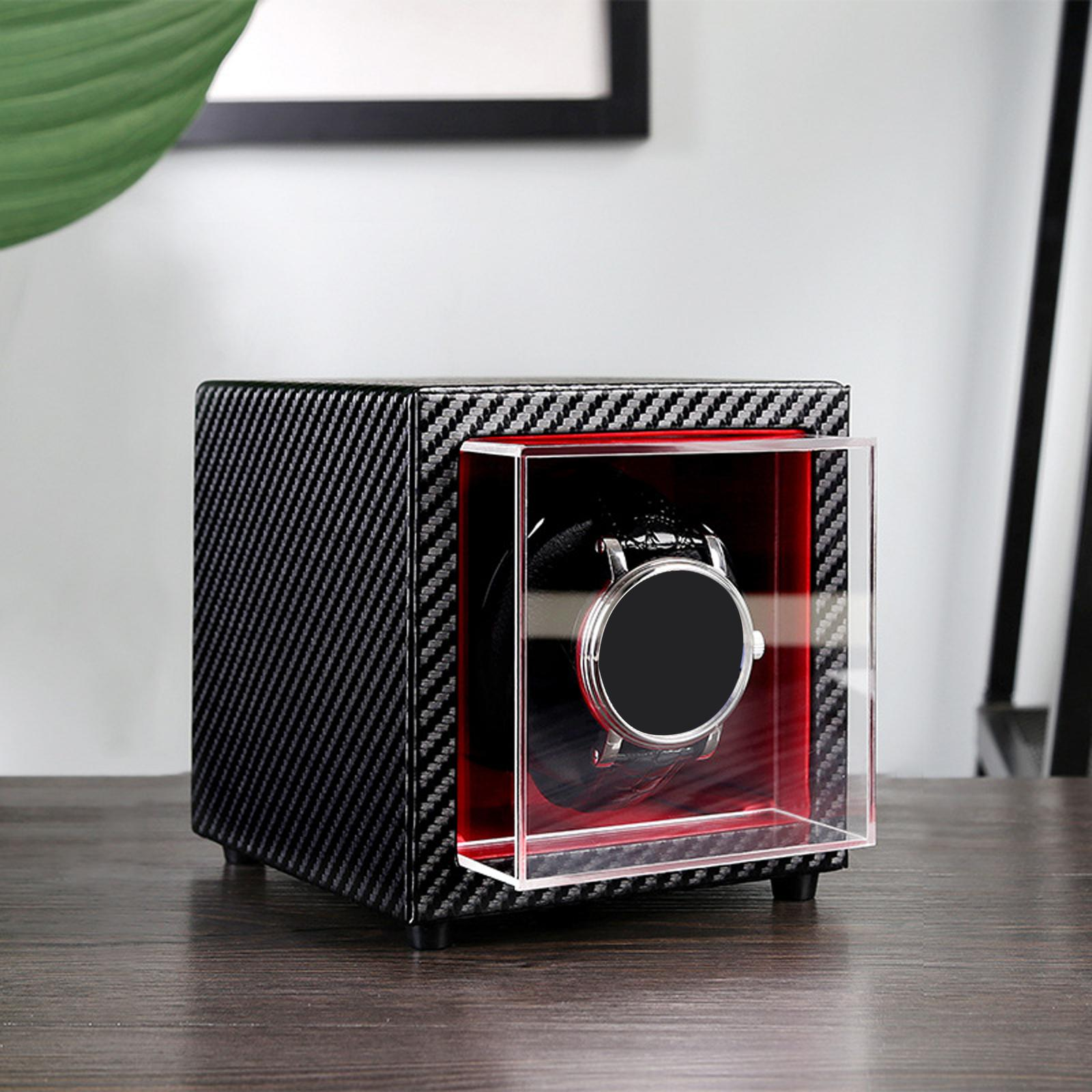 Watch Winder Automatic Rotation Leather Storage Watch Display Box Case Holde