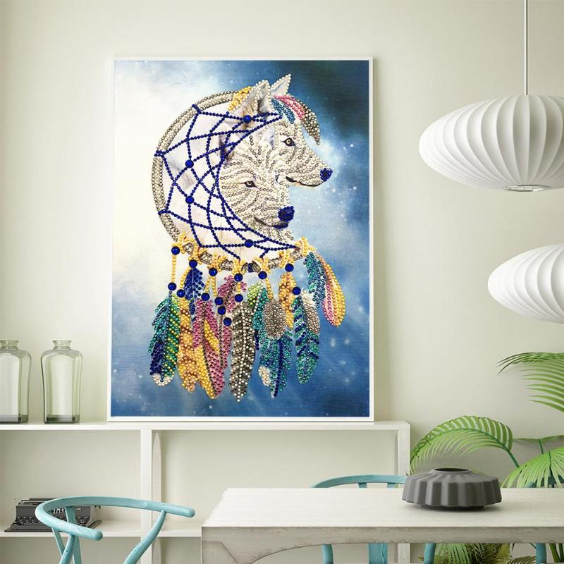 DIY 5D Special Shaped Diamond Painting Cross Stitch Mosaic Craft Kits Wall Art