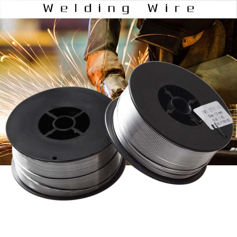 1Pc 1kg 0 8 0 9 1 0 1 2mm Gasless Mig Welding Wire E71T-GS A5 20 Flux Cored Welding Wire Without Gas For Mig Welder Steel Tool