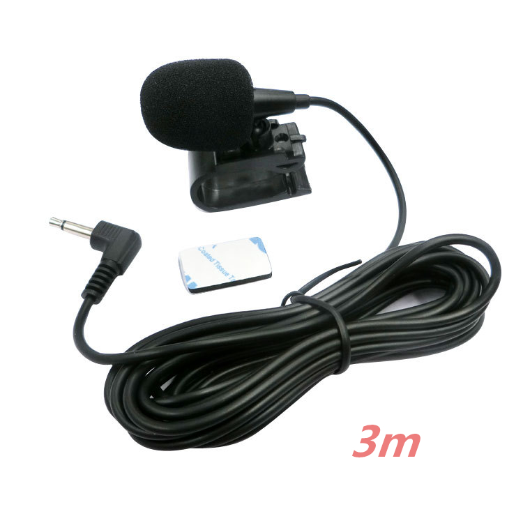 Microfone de áudio do carro 3.5mm clipe jack plug microfone estéreo mini microfone externo com fio para auto dvd rádio 3m longo profissionais Microfones    -
