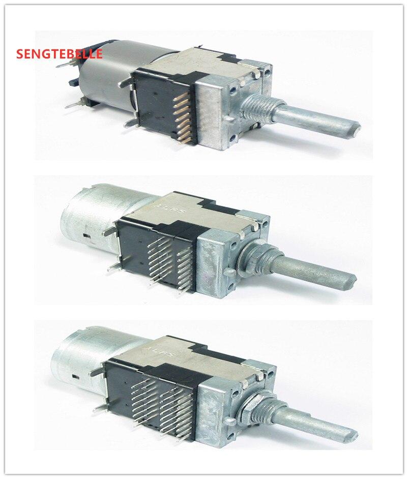 1PCS Japan ALPS Motor Potentiometer  2x100K  4x100K 6x100K  Hifi Audio  Potentiometer