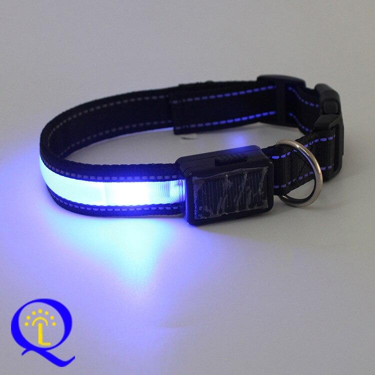 LED Pet Collar LED Shining Dog Traction Collar Solar Charging Pet Electronic Supplies