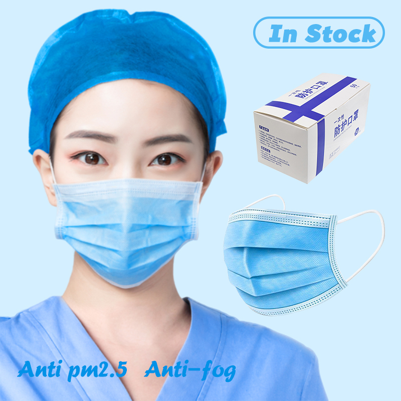 20/30/50 Disposable Facial Mask Sergical Mask Health Mask Anti Pollut Outdoor Earloop  Fabric Facial Mouth Face Mask