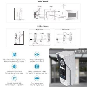 "Image 4 - HOMSECUR 7 ""WiFi IP Wired וידאו דלת כניסת אבטחת אינטרקום 1.0MP עם זיכרון צג עבור אבטחה בבית"