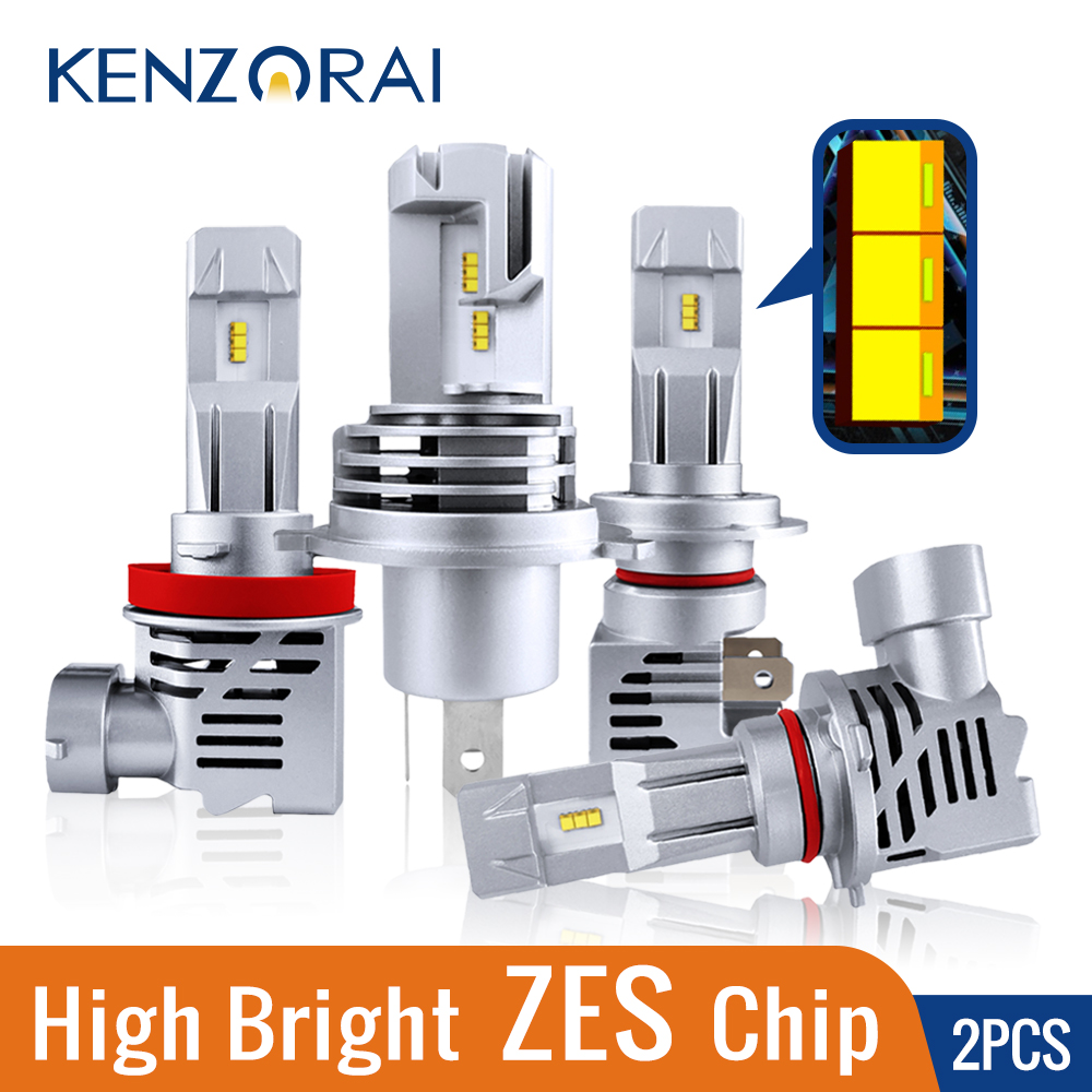 ZES chip M3 car headlight bulb <font><b>led</b></font> <font><b>H7</b></font> H4 H8 H11 9005 HB3 9006 HB4 high bright 6000LM <font><b>55W</b></font> 12V 6500K Waterproof <font><b>Lamp</b></font> Auto <font><b>LED</b></font> Bulb image