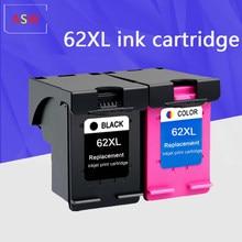 Substituição Do Cartucho De Tinta para hp 62 62XL preto xl HP62 envy 5640 officejet 200 5540 5740 5542 7640 impressoras