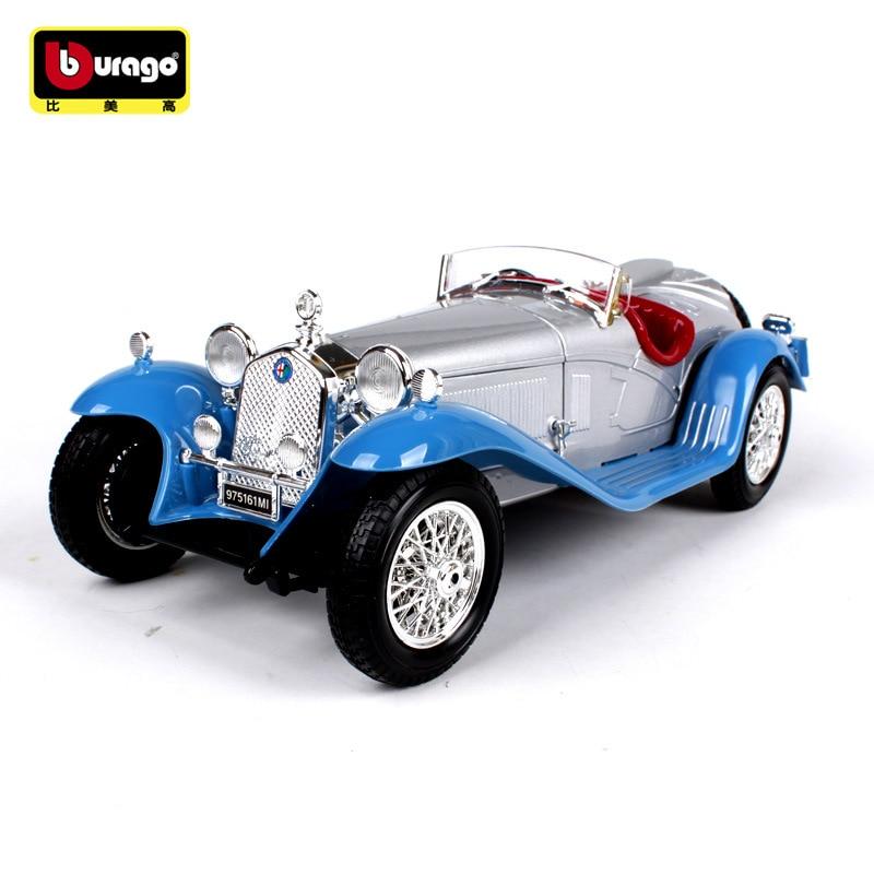 Bburago 1:18 Alfa Romeo 8C car alloy car model simulation car decoration collection gift toy Die casting model boy toy
