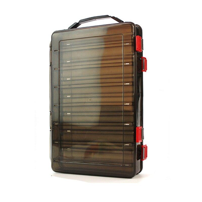 17*20 Cm/18.5*27.5 Cm Vissen Lokken Doos Dubbelzijdig Tackle Box Inktvis Jig Vissen Accessoire doos Vissen Lokt Visgerei - 5